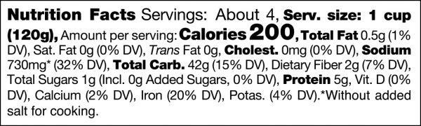 Gnocchi Nutrition Facts