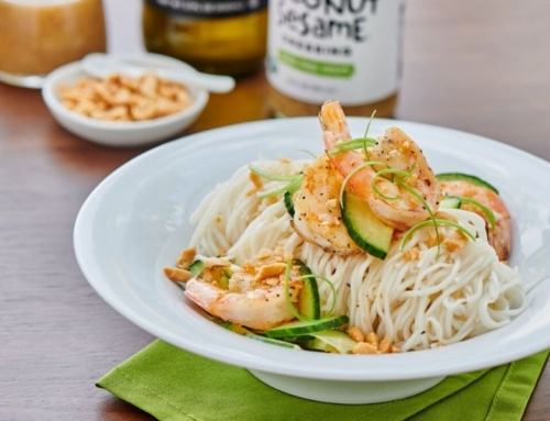 Inspired Eats – Thai Inspired Shrimp Noodle Bowl