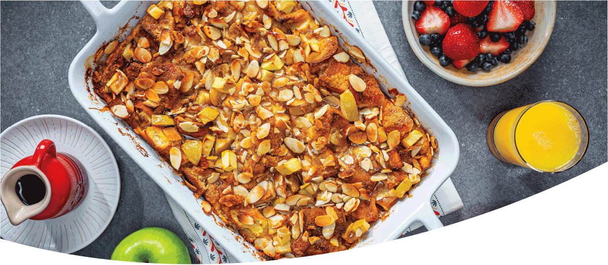 Overnight Almond Apple Casserole
