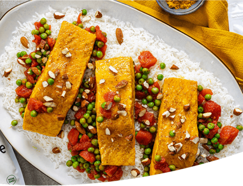 Steamed Curry Salmon Fillets